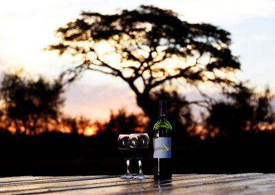 Jenobli Safaris - wine and sunset